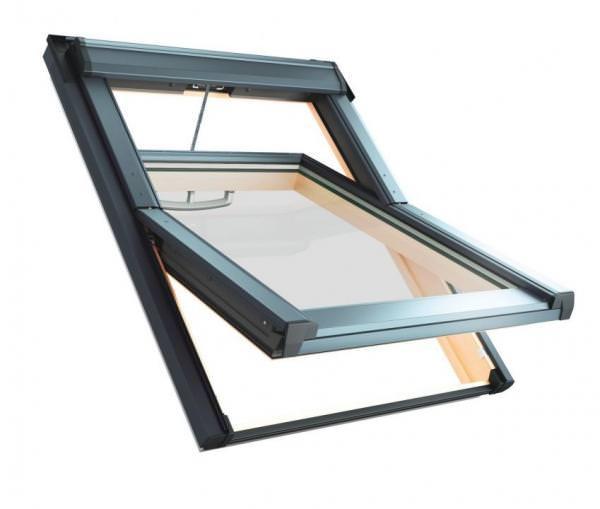 Roto Dachfenster WDT R68G Holz RotoTronic Solar-Schwingfenster blueLine Plus Sun Aluminium