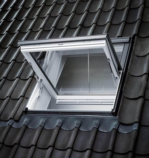 VELUX Dachfenster GGU 006640 Kunststoff Rauchabzugsfenster ENERGIE PLUS Aluminium