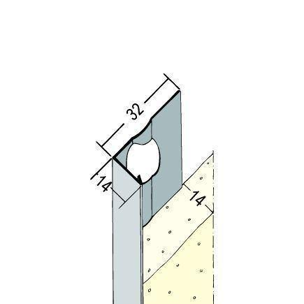 Prima Alu-Eckschutzschiene 90 Grad Nr. 9110 L 300 cm 25/25/0,4 mm