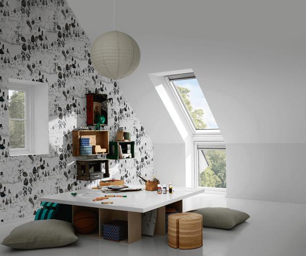 """VELUX Dachfenster VIU 0062 Kunststoff Zusatzelement """"Wand"""" Energie Schallschutz Aluminium"""