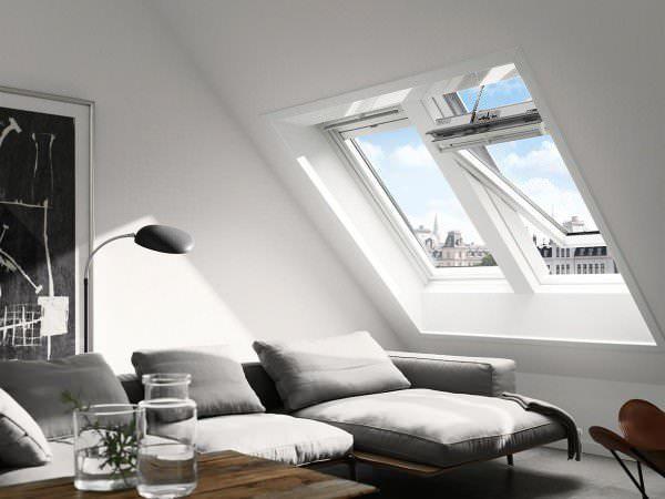 VELUX Dachfenster GGL 217030 Holz INTEGRA® Solarfenster weiß lackiert THERMO Kupfer