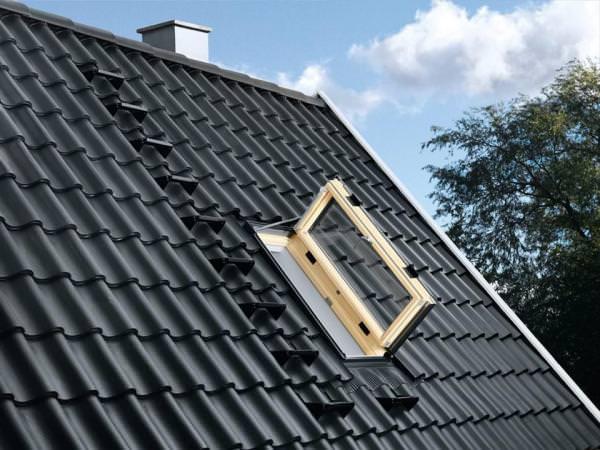 VELUX Dachfenster GXU 0060 Kunststoff Wohn-/ Ausstiegsfenster Türfunktion THERMO PLUS Aluminium