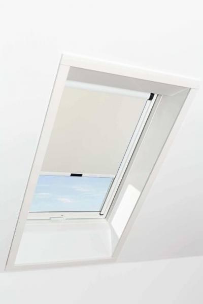 Roto ZRV 6x/84 Verdunkelungsrollo Manuell für Kunststoff-Dachfenster Schiene Weiß