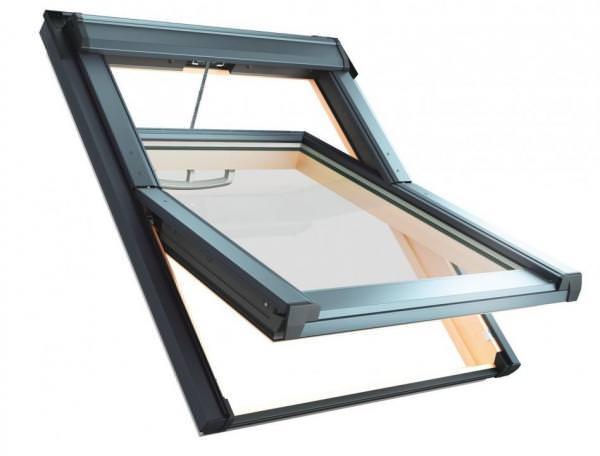 Roto Dachfenster Q4 Tronic H3A Holz Schwingfenster Elektrisch Acustic Aluminium
