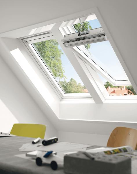 VELUX Elektro Dachfenster GGU 006921 Kunststoff INTEGRA ENERGIE HITZESCHUTZ Aluminium