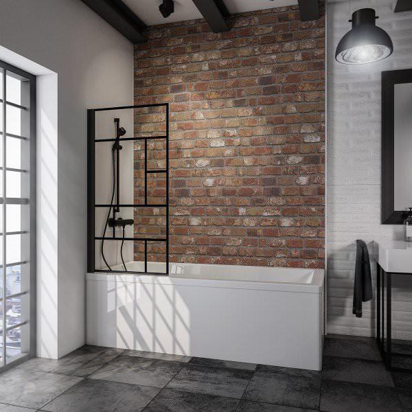 Schulte Black Style Badewannenfaltwand 1-teilig Dekor Atelier 1