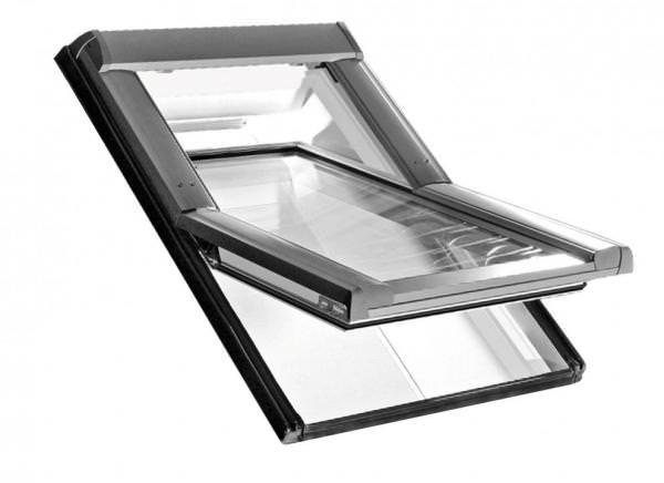 Roto Dachfenster WDT R69P Kunststoff RotoTronic Solar-Schwingfenster blueTec Plus Aluminium