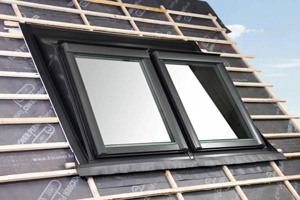 Roto Eindeckrahmen ERA Rx Ziegel Einbaurahmen Aufkeil 2x1 wärmegedämmt Aluminium