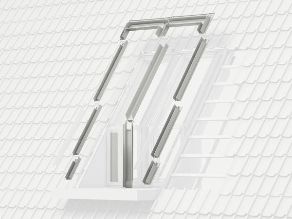 VELUX EES M08 0000 Eindeckrahmen Schiefer Stehfalz für Dachbalkon Aluminium
