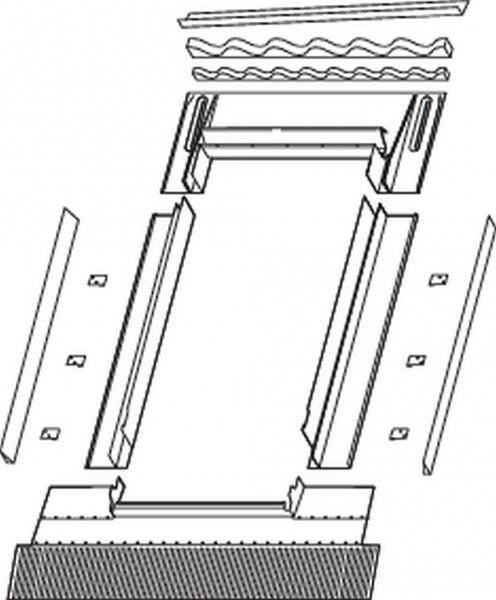 Roto EDR Rx WEL Eindeckrahmen Wellplatteneindeckung ungedämmt Aluminium