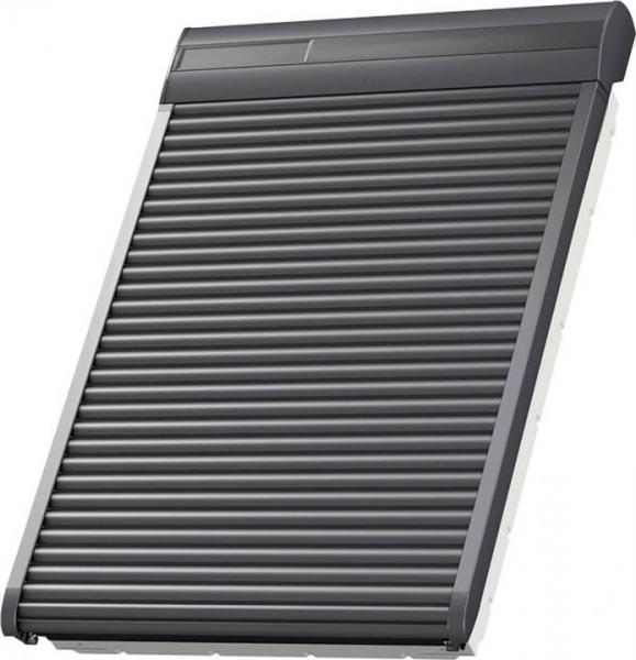 VELUX SST 0000 Aluminium INTEGRA® Solar-Rollladen Dunkelgrau für VELUX Wohn- und Ausstiegsfenster