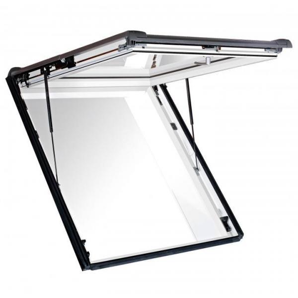 Roto Dachfenster WSA R88G Kunststoff Designo R8 Wohnsicherheitsausstieg blueLine Plus Sun Aluminium