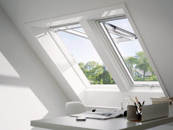 VELUX Dachfenster GPU 0366 Kunststoff Klapp-Schwingfenster ENERGIE PLUS Titanzink