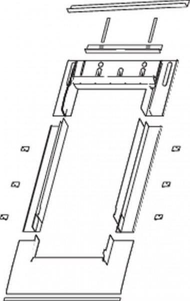 Roto EDR Rx SDS Eindeckrahmen Schiefer/Schindel durchgehenden Seitenteilen ungedämmt Aluminium