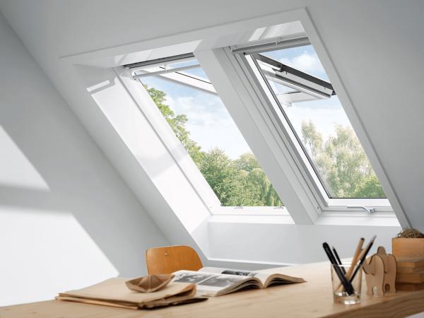 VELUX Dachfenster GPL 3159 Holz Klapp-Schwingfenster klar lackiert THERMO-STAR Kupfer