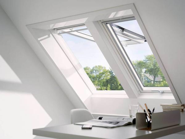 VELUX Komplett-Set Klapp-Schwing-Fenster Energie Wärmedämmung + EDJ Eindeckrahmen GPU