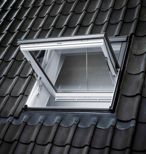 VELUX Dachfenster GGL SD00405 Holz Rauch-Wärmeabzugsfenster weiß lackiert THERMO Aluminium