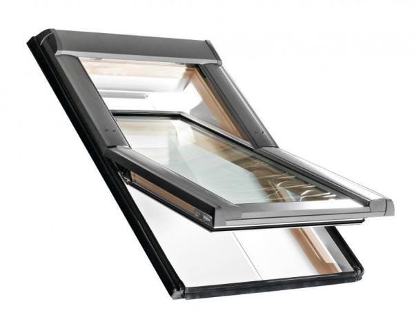 Roto Dachfenster WDF R68G Holz Designo R6 Schwingfenster blueLine Plus Sun Aluminium