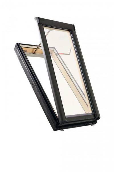 Roto Dachfenster WRA R58G Holz Designo R5 Rauch- und Wärmeabzugsanlage 2-fach Premium Ral