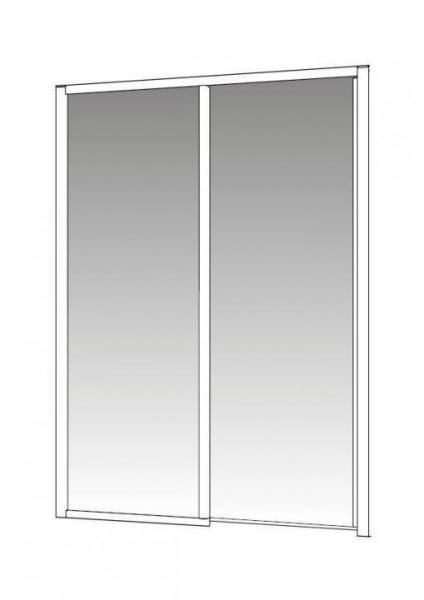 PALME DRIVE 1.0 Schiebetür 2-teilig Seitenteil über Ecke mit Bodenprofil