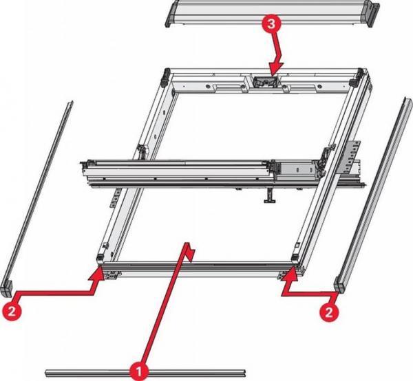 Roto EDX Abdeckbleche für bauseitigen Eindeckrahmen (seitlich und unten) Aluminium