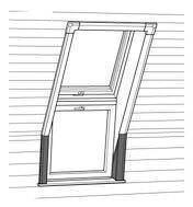 Roto Designo Rx ZIN EFA Innenfutter Fassadenanschluss weiß