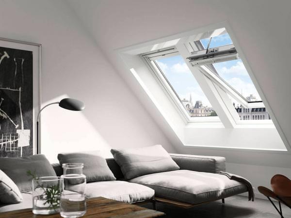 VELUX Dachfenster GGL 216030 Holz INTEGRA® Solarfenster weiß lackiert THERMO PLUS Kupfer