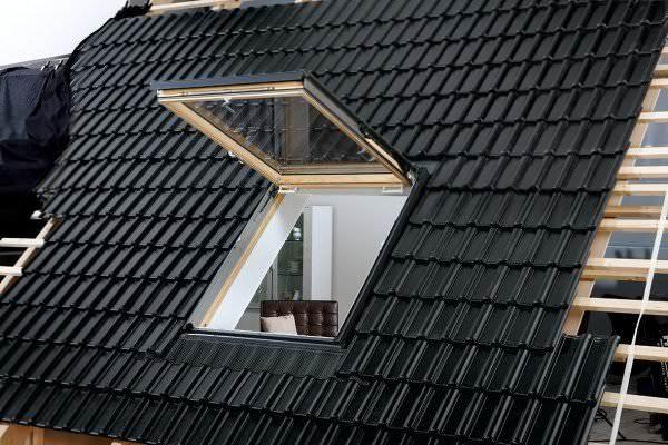 VELUX Dachfenster GTL 3366 Holz Wohn- und Ausstiegsfenster klar lackiert ENERGIE PLUS Titanzink