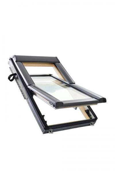 Roto Dachfenster WDF R66E Holz Designo R6 Schwingfenster 3-fach Acoustic Aluminium