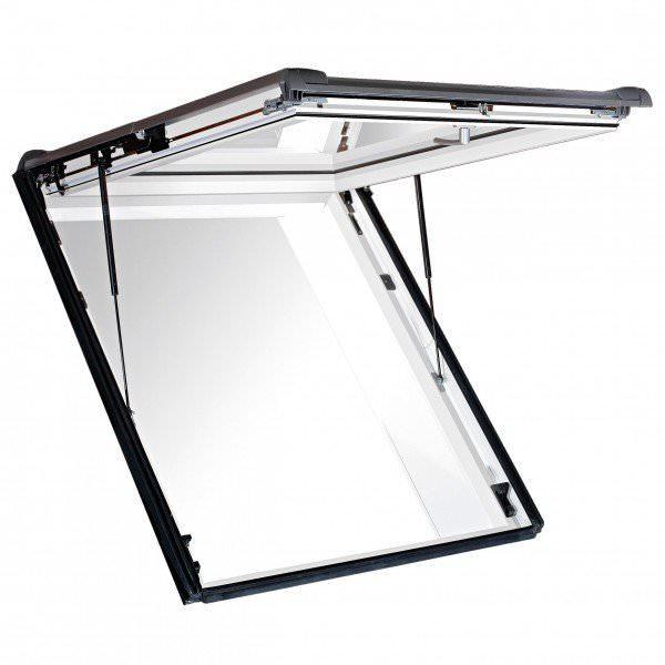 Roto Dachfenster WSA R89G Kunststoff Designo R8 Wohnsicherheitsausstieg blueTec Aluminium