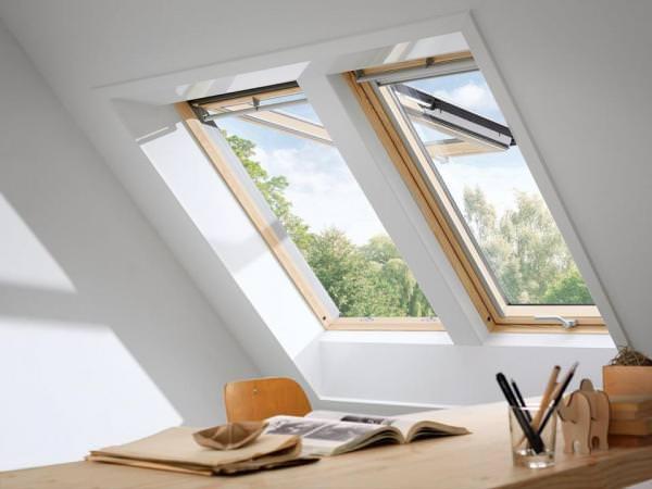 VELUX Dachfenster GPL 3359 Holz Klapp-Schwingfenster klar lackiert THERMO-STAR Titanzink