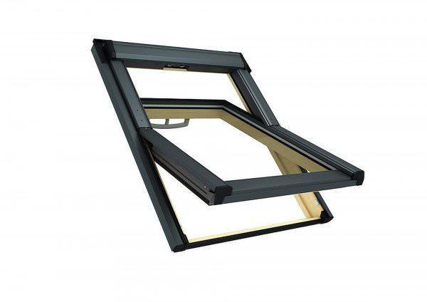 Roto Dachfenster Q4 H3C Holz Schwingfenster Comfort Titanzink