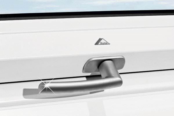 Roto ZUB GRF Standardgriff für Roto Kunststofffenster WDF R6/R8 / WSA R8 silber