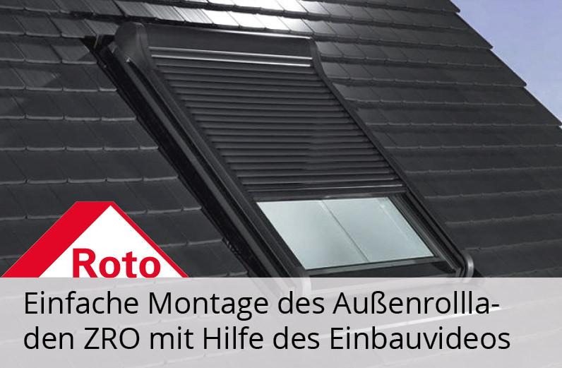 Roto ZRO Außenrollladen Solar Funk Einbauvideo