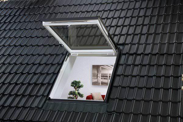 VELUX Dachfenster GTU 0370 Kunststoff Wohn- und Ausstiegsfenster THERMO Titanzink
