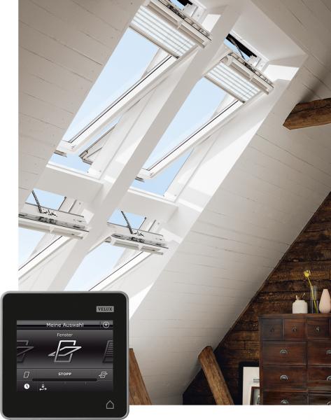 VELUX Dachfenster GGU 037021 Kunststoff INTEGRA® Elektrofenster THERMO Titanzink