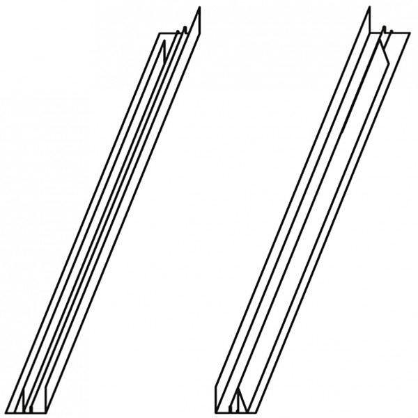 VELUX ETW 0300 Verlängerungsteile Ziegel hoch/Welle Titanzink