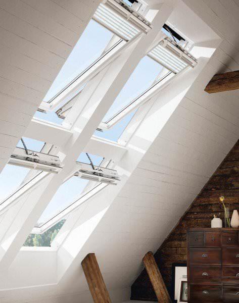 VELUX Dachfenster GGU 036621 Kunststoff INTEGRA® Elektrofenster ENERGIE PLUS Titanzink