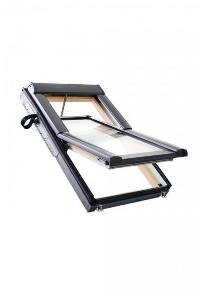 Roto Dachfenster WDT R68C Holz RotoTronic Elektro-Funk-Schwingfenster 2-fach Comfort Kupfer