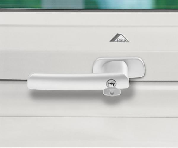 Roto ZUB GRF Abschließbarer Griff für Roto Kunststofffenster WDF R6/R8 / WSA R8 weiß