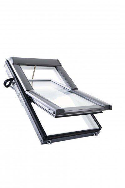 Roto Dachfenster WDT R68C Kunststoff RotoTronic Solar-Funk-Schwingfenster 2-fach Comfort Aluminium