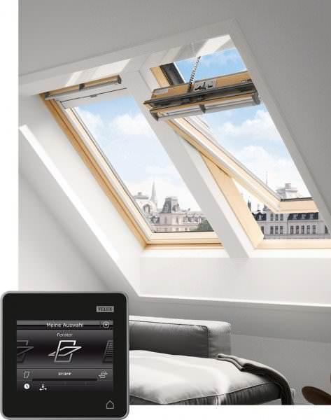 VELUX Dachfenster GGL 337030 Holz INTEGRA® Solarfenster klar lackiert THERMO Titanzink
