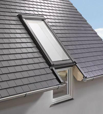 Roto Designo Einzeleindeckrahmen für Fassadenanschluss Rx