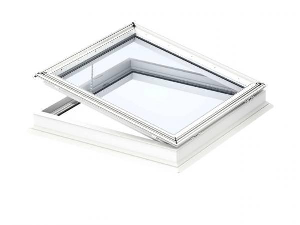 VELUX Flachdach-Fenster CVP 0673QV Basis-Element elektrisch öffnend Kunststoff-Isolierglas