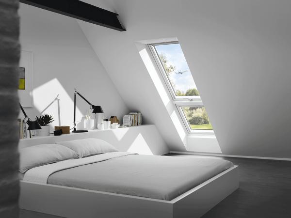 """VELUX Dachfenster GIU 0162 Kunststoff Zusatzelement """"Dachschräge"""" Energie Schallschutz Kupfer"""