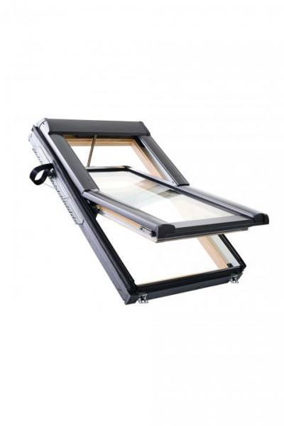 Roto Dachfenster WDT R68C Holz RotoTronic Solar-Funk-Schwingfenster 2-fach Comfort Aluminium