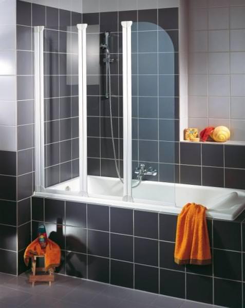 Schulte ExpressPlus Komfort Badewannenfaltwand Rahmenlos 3-teilig