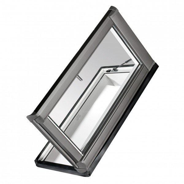 Roto Dachfenster WDA R35 Kunststoff Designo R3 Dachausstieg links blueLine Aluminium