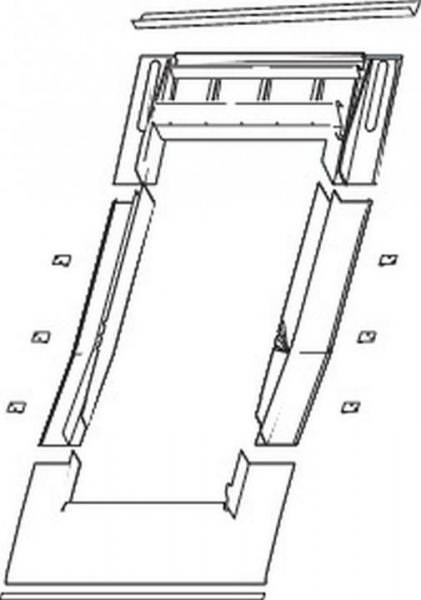 Roto EDR Rx EZI Eindeckrahmen Ebene Pfannen/Ziegel wärmegedämmt Aluminium