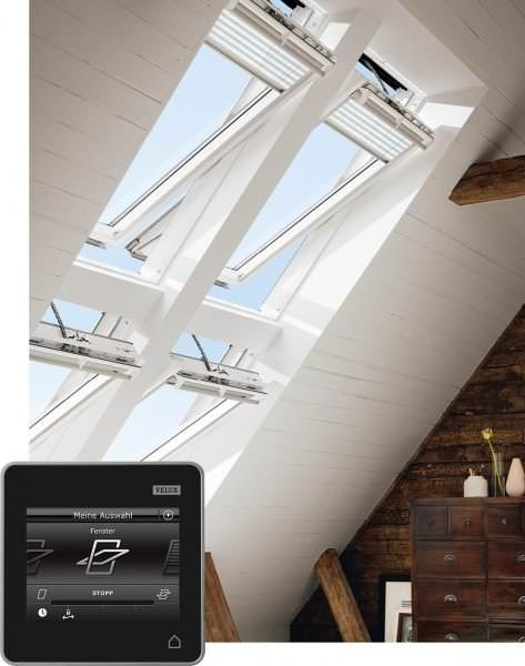 VELUX Dachfenster GGU 016021 Kunststoff INTEGRA® Elektrofenster THERMO PLUS Kupfer